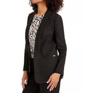 NWT CALVIN KLEIN Womens Black Parker Twill Open Fr